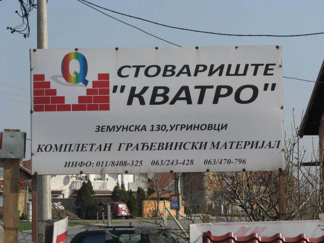 Stovarište građevinskog materijala Kvatro