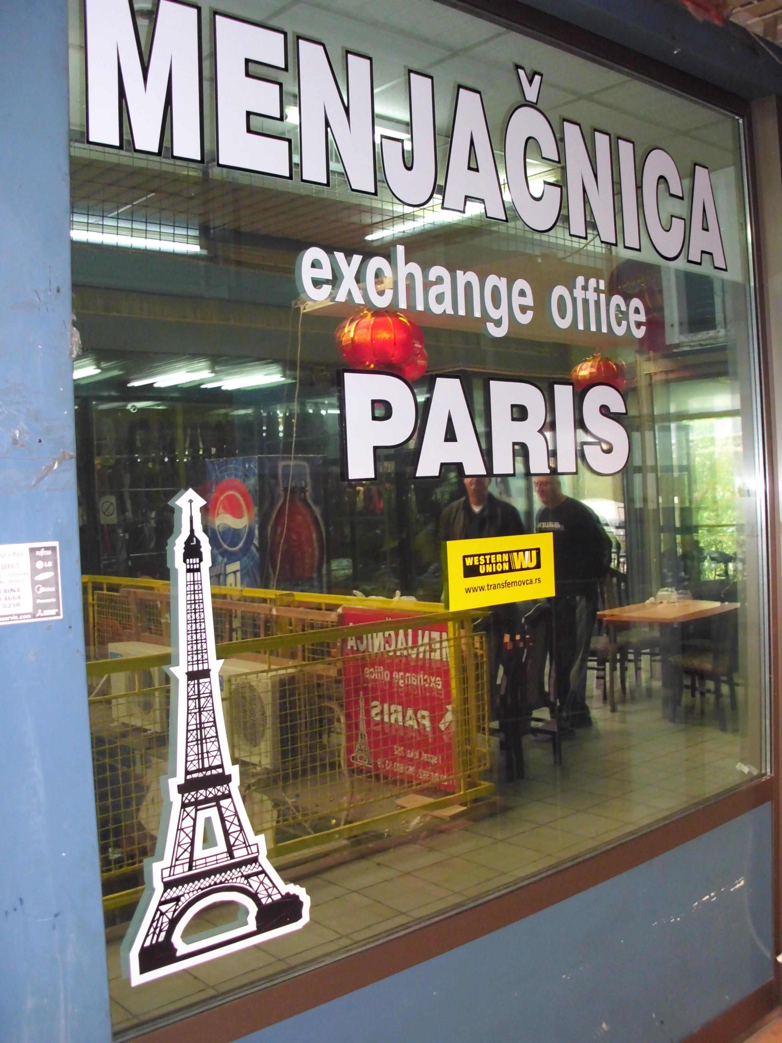 Menjačnica Pariz