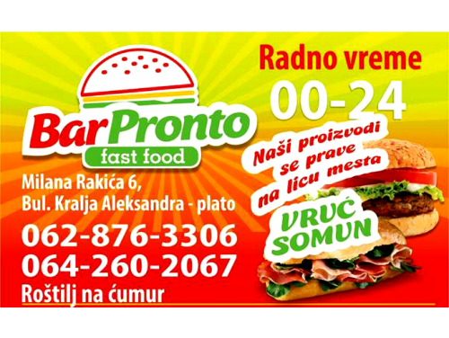 Fast food Pronto Bar