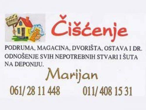 Čišćenje podruma Marijan
